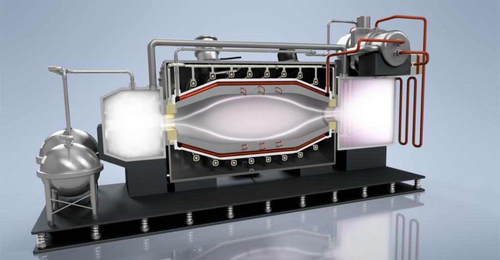 PFRC cutaway with plasma